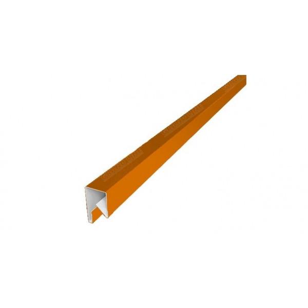 Планка П-образная заборная 17 0,45 PE с пленкой RAL 2004 оранжевый