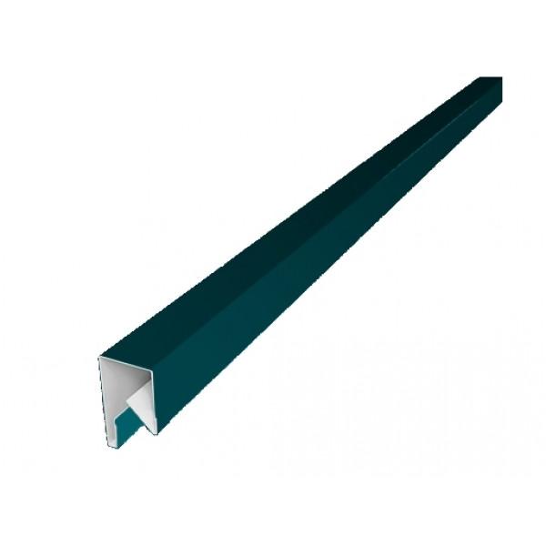 Планка П-образная заборная 20 0,45 PE с пленкой RAL 5021 водная синь