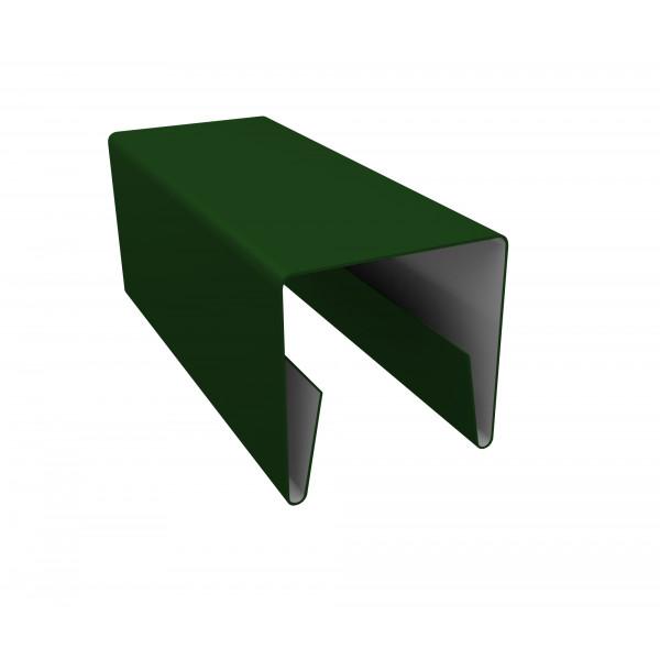 Планка П-образная заборная 20 0,45 PE с пленкой RAL 6002 лиственно-зеленый