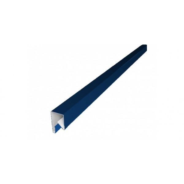 Планка П-образная заборная 17 0,45 PE с пленкой RAL 5005 сигнальный синий