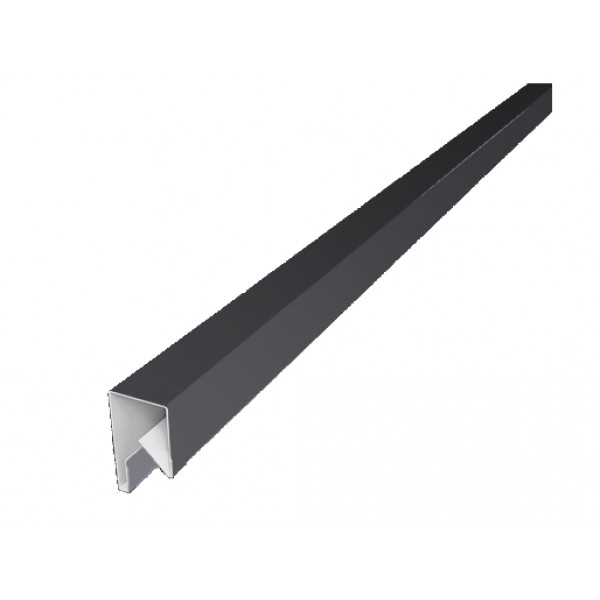 Планка П-образная заборная 17 0,45 PE с пленкой RAL 7004 сигнальный серый