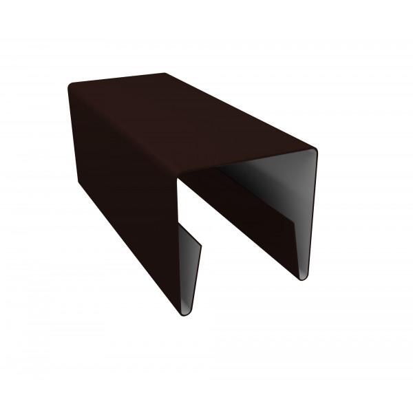 Планка П-образная заборная 20 0,45 PE с пленкой RAL 8017 шоколад