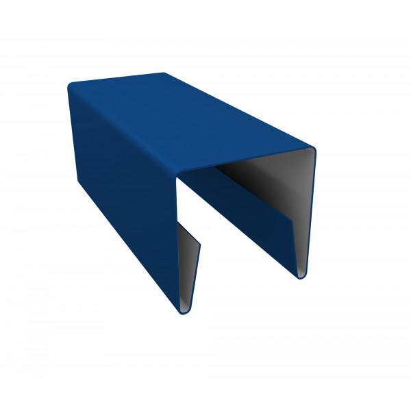 Планка П-образная заборная 20 0,45 PE с пленкой RAL 5005 сигнальный синий