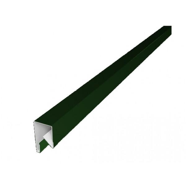 Планка П-образная заборная 17 0,45 PE с пленкой RAL 6002 лиственно-зеленый