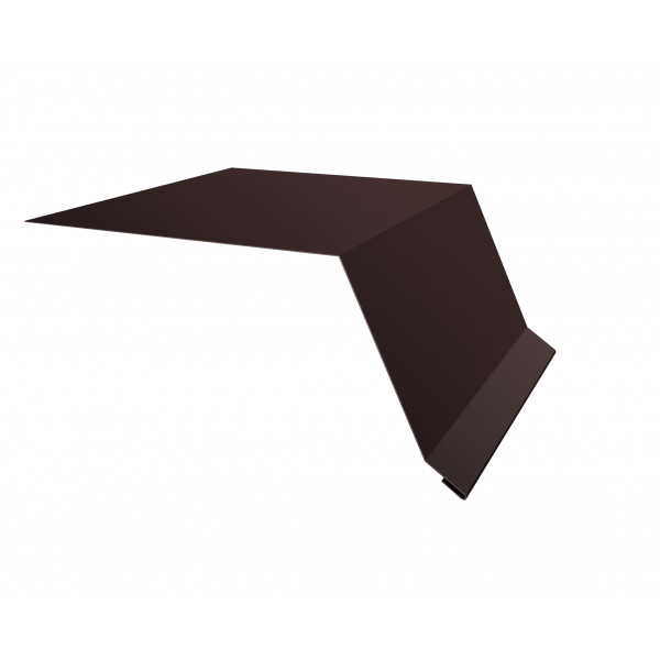 Планка капельник100х55 0,45 PE с пленкой RAL 8017 шоколад