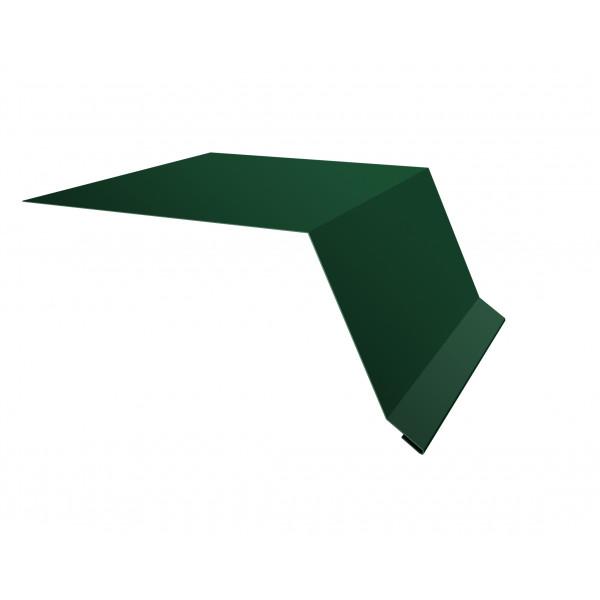 Планка капельник100х55 0,45 PE с пленкой RAL 6005 зеленый мох
