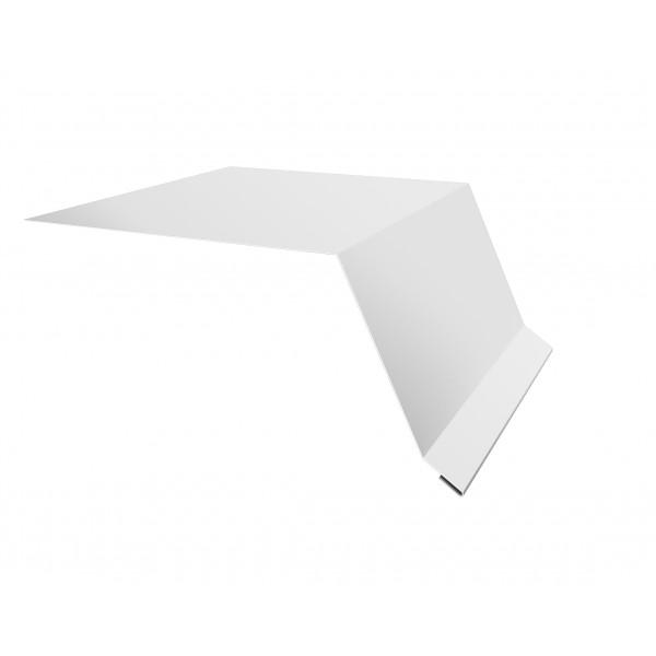 Планка капельник100х55 0,45 PE с пленкой RAL 9003 сигнальный белый