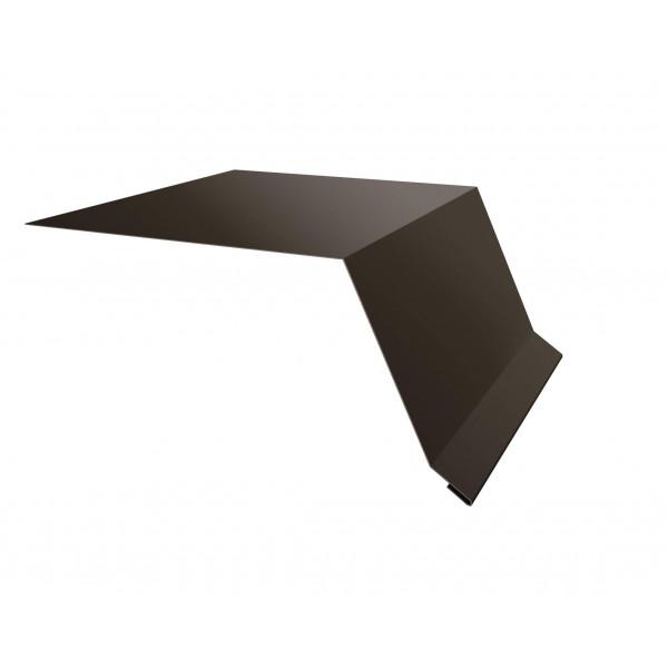 Планка капельник100х55 0,45 PE с пленкой RR 32 темно-коричневый