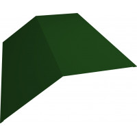 Планка конька плоского 190х190 0,45 PE с пленкой RAL 6002 лиственно-зеленый