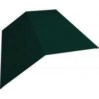 Планка конька плоского 190х190 0,45 PE с пленкой RAL 6005 зеленый мох