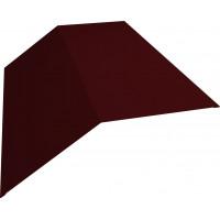 Планка конька плоского 190х190 0,45 PE с пленкой RAL 3005 красное вино