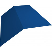 Планка конька плоского 190х190 0,45 PE с пленкой RAL 5005 сигнальный синий