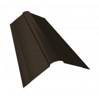 Планка конька фигурного 150x150 0,45 PE с пленкой RR 32 темно-кориченевый