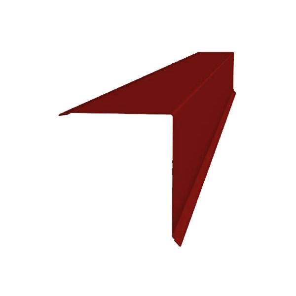 Планка конька односкатной кровли 160x160 0,45 PE с пленкой RAL 3011 коричнево-красный