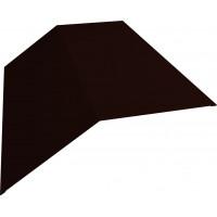 Планка конька плоского 145х145 0,45 PE с пленкой RR 32 темно-коричневый