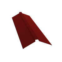 Планка конька плоского 115х30х115 0,45 PE с пленкой RAL 3011 коричнево-красный