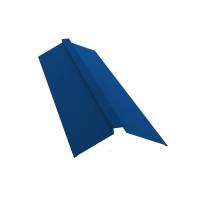 Планка конька плоского 150х40х150 0,45 PE с пленкой RAL 5005 сигнальный синий