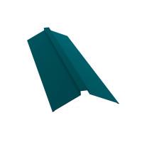Планка конька плоского 150х40х150 0,45 PE с пленкой RAL 5021 водная синь