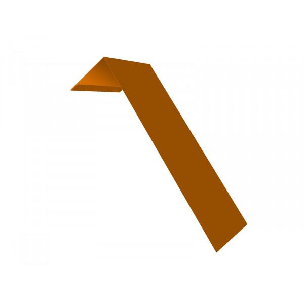 Планка лобовая/околооконная простая 190х50 0,45 PE с пленкой RAL 2004 оранжевый