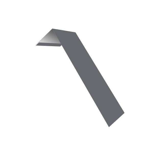 Планка лобовая/околооконная простая 190х50 0,45 PE с пленкой RAL 7004 сигнальный серый