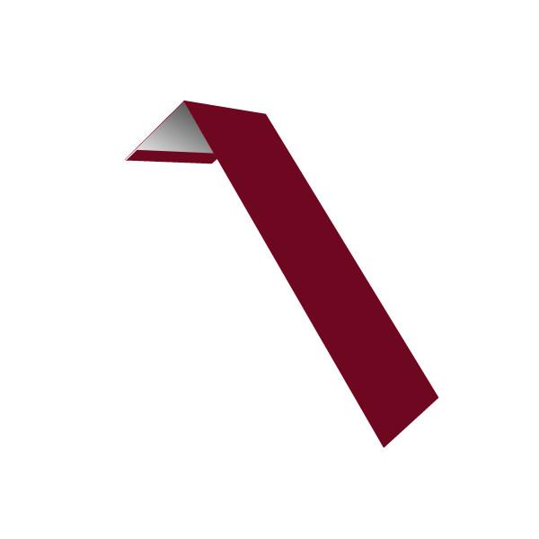 Планка лобовая/околооконная простая 190х50 0,45 PE с пленкой RAL 3003 рубиново-красный