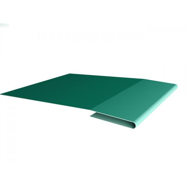 Планка начальная 0,45 PE с пленкой RAL 5021 водная синь