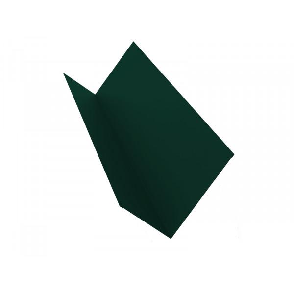 Планка примыкания 150х250 0,45 PE с пленкой RAL 6005 зеленый мох