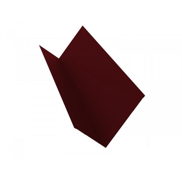 Планка примыкания 150х250 0,45 PE с пленкой RAL 3005 красное вино