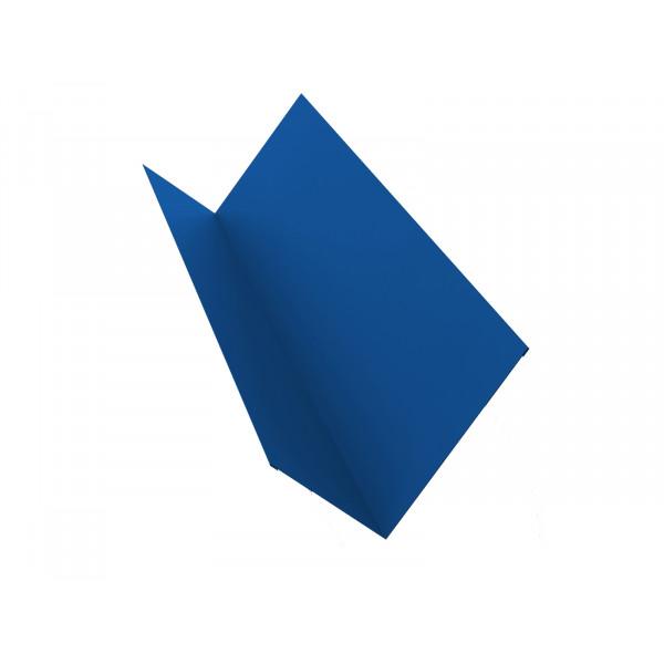 Планка примыкания 150х250 0,45 PE с пленкой RAL 5005 сигнальный синий