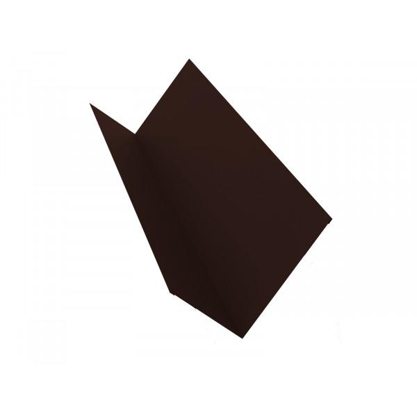 Планка примыкания 150х250 0,45 PE с пленкой RAL 8017 шоколад