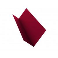 Планка примыкания 90х140 0,45 PE с пленкой RAL 3003 рубиново-красный