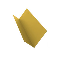 Планка примыкания 90х140 0,45 PE с пленкой RAL 1018 цинково-желтый