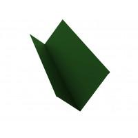 Планка примыкания 90х140 0,45 PE с пленкой RAL 6002 лиственно-зеленый