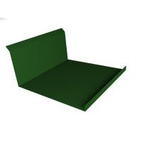 Планка примыкания нижняя 20х122х260х15 0,45 PE с пленкой RAL 6002 лиственно-зеленый