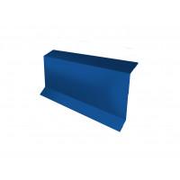 Планка примыкание в штробу 60 0,45 PE с пленкой RAL 5005 сигнальный синий