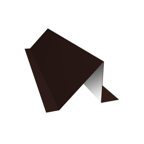 Планка снегозадержания 0,45 PE с пленкой RAL 8017 шоколад