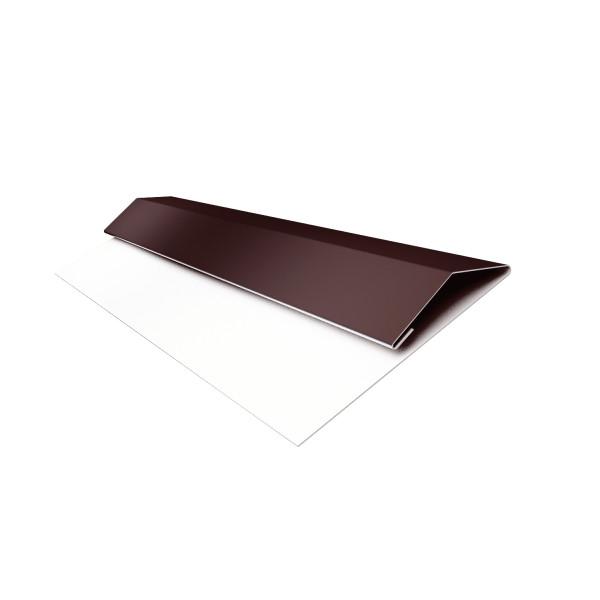 Планка стартово-финишная (Блок-хаус, Экобрус) Grand Line 0,45 PE с пленкой RAL 8017 шоколад