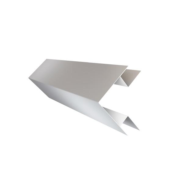 Планка угла внешнего сложного Экобрус Grand Line 0,45 PE с пленкой RAL 9003 сигнальный белый