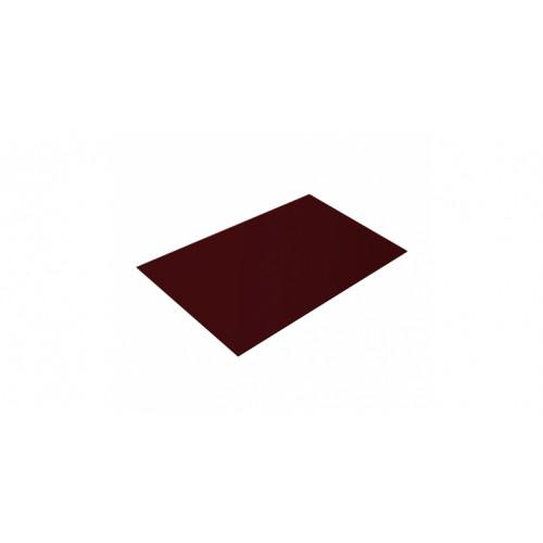 Плоский лист 0,45 PE RAL 3005 красное вино