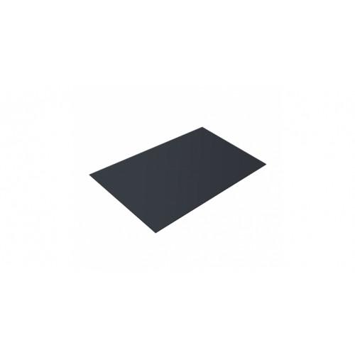 Плоский лист 0,45 PE RAL 7024 мокрый асфальт