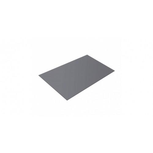 Плоский лист 0,45 PE RAL 7004 сигнальный серый