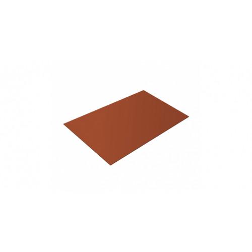 Плоский лист 0,45 PE RAL 8004 терракота