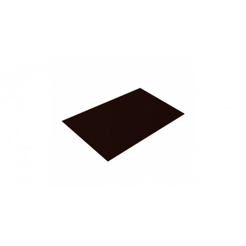 Плоский лист 0,45 PE RR 32 темно-коричневый