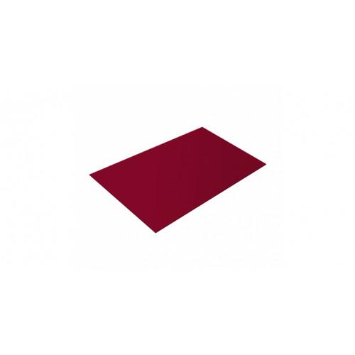 Плоский лист 0,45 PE RAL 3003 рубиново-красный
