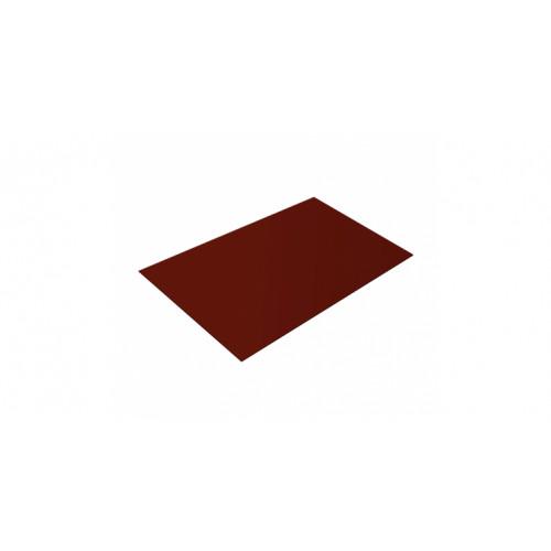 Плоский лист 0,45 PE RAL 3009 оксидно-красный