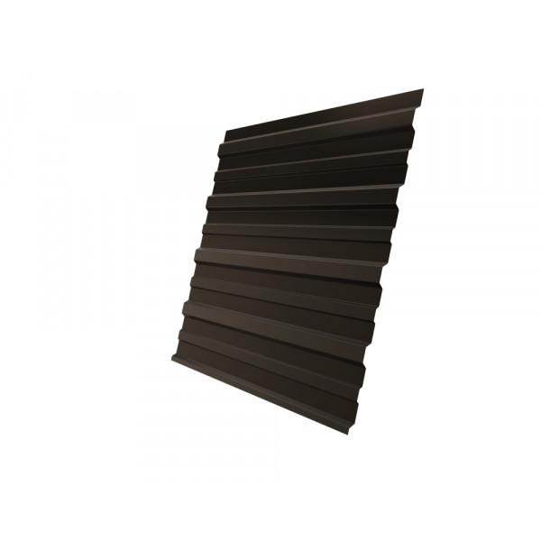 Профнастил С10A 0,5 Satin RR 32 темно-коричневый