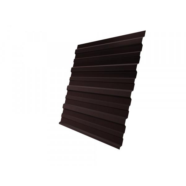 Профнастил С10A 0,45 PE RAL 8017 шоколад