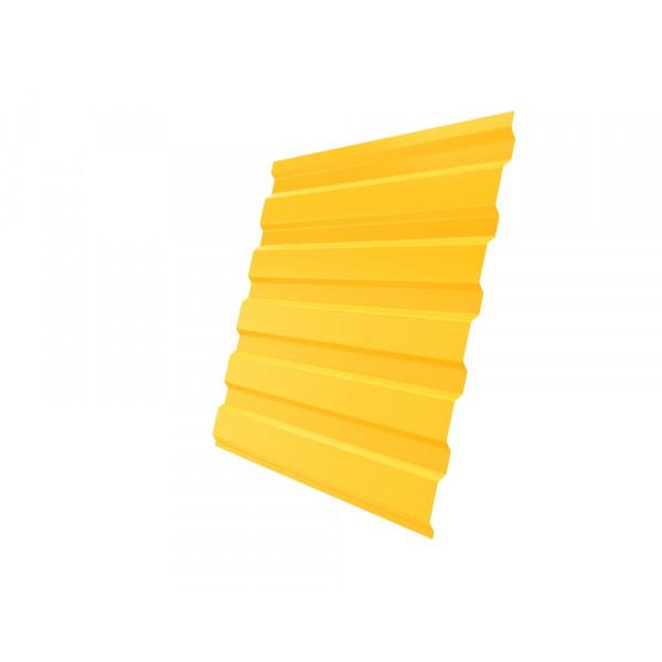 Профнастил С20А 0,45 PE RAL 1018 цинково-желтый