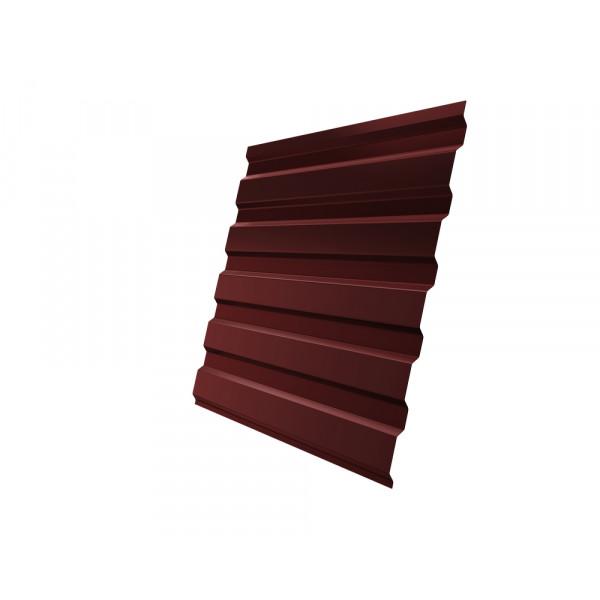 Профнастил С20А 0,45 PE RAL 3009 оксидно-красный