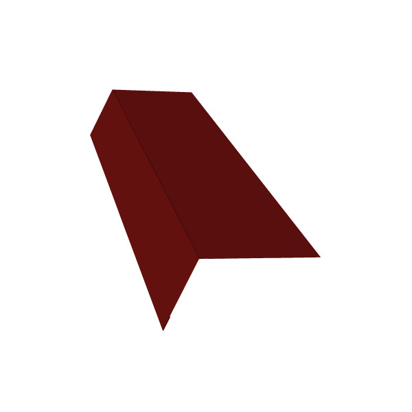 Планка карнизная широкая 100х85 0,45 PE с пленкой RAL 3011 коричнево-красный